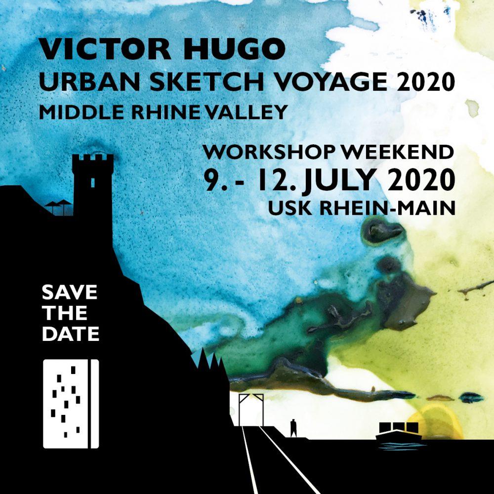 save the date: Urban Sketch Voyage 2020 Urban Sketchers Rhein-Main